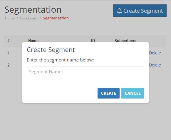 Create Segment