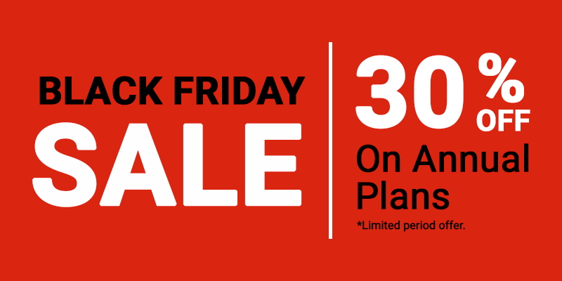 PushAlert - Black Friday Sale 30% Off on Annual Plans