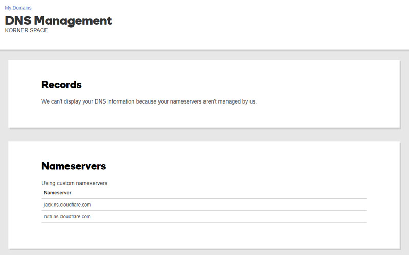 Add the new Nameservers to your domain registrar