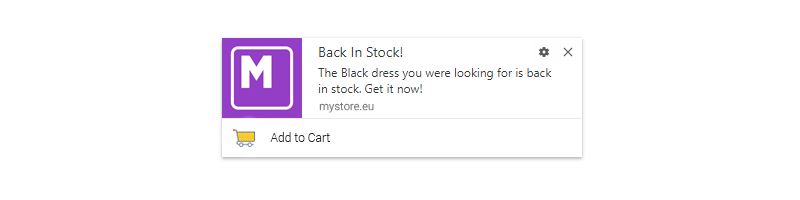 Back In-Stock Alerts with Push Notifications