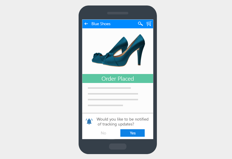 Order Tracking Updates - Web Push Opt-in Strategy