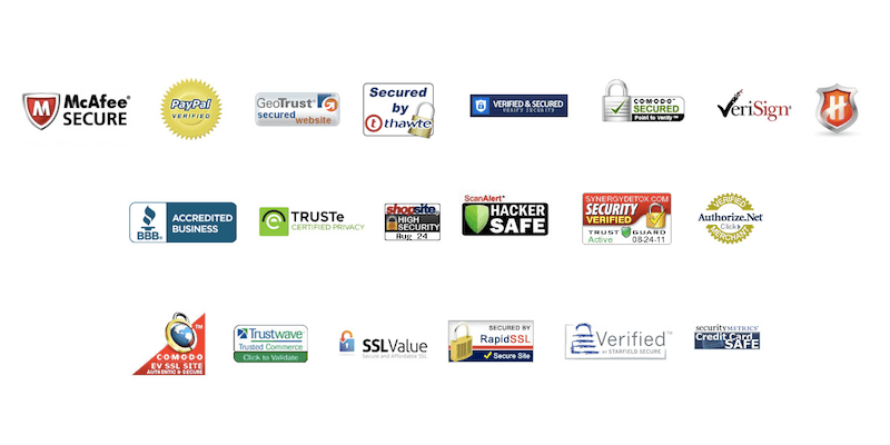 Trust and Compliance Logos also help in building Credibility