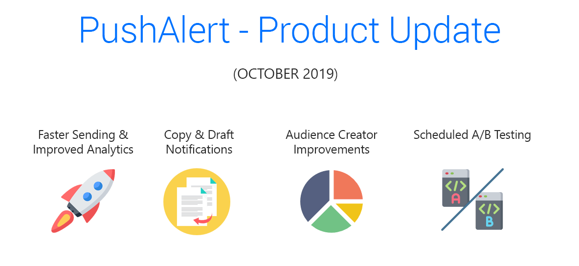 New Updates: Copy/Draft Push Notifications, Scheduled A/B Testing, New options in Audience Creator