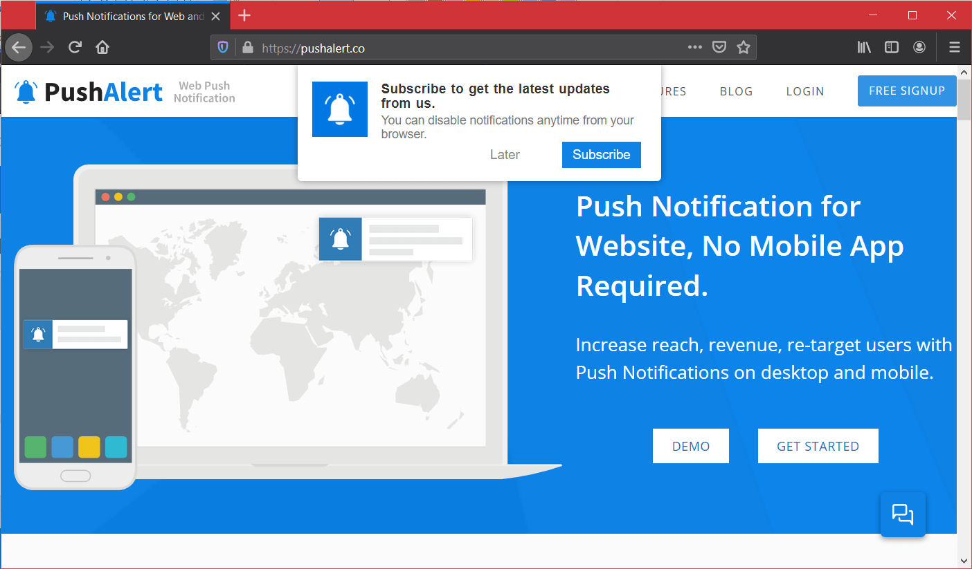 Firefox 72 - Web Push Notification Prompt Changes