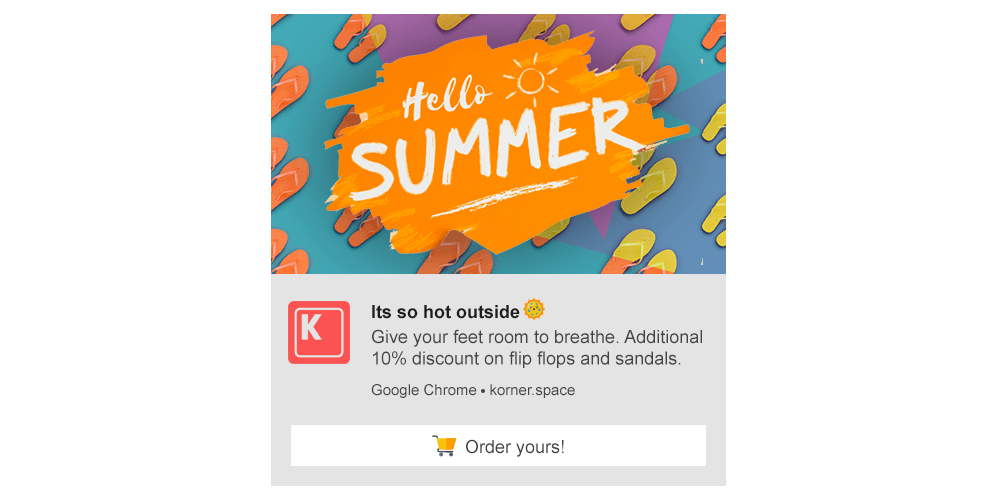 Push Notification Template - Summer Collection Sale
