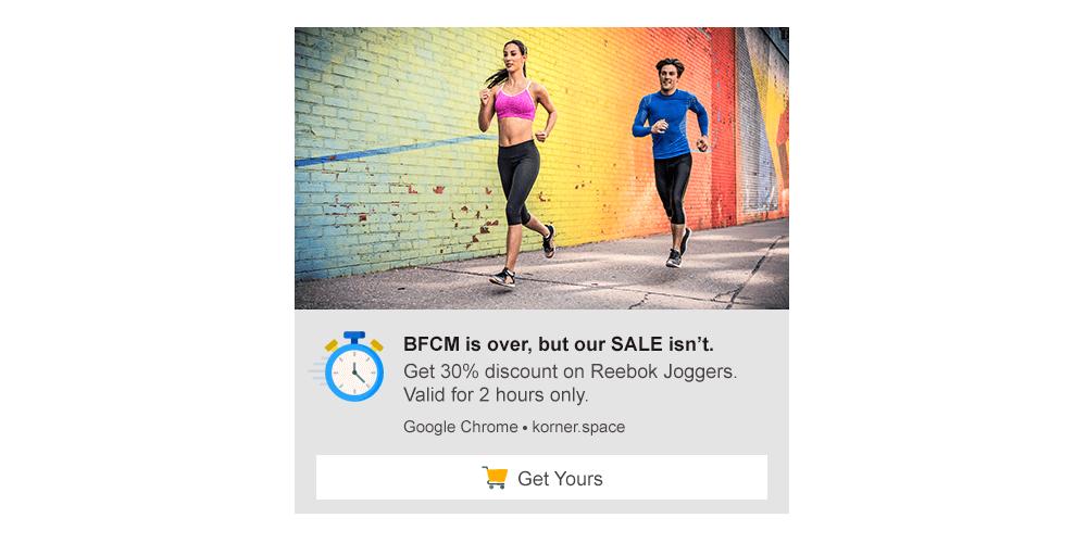 Post BFCM Sale Campaign