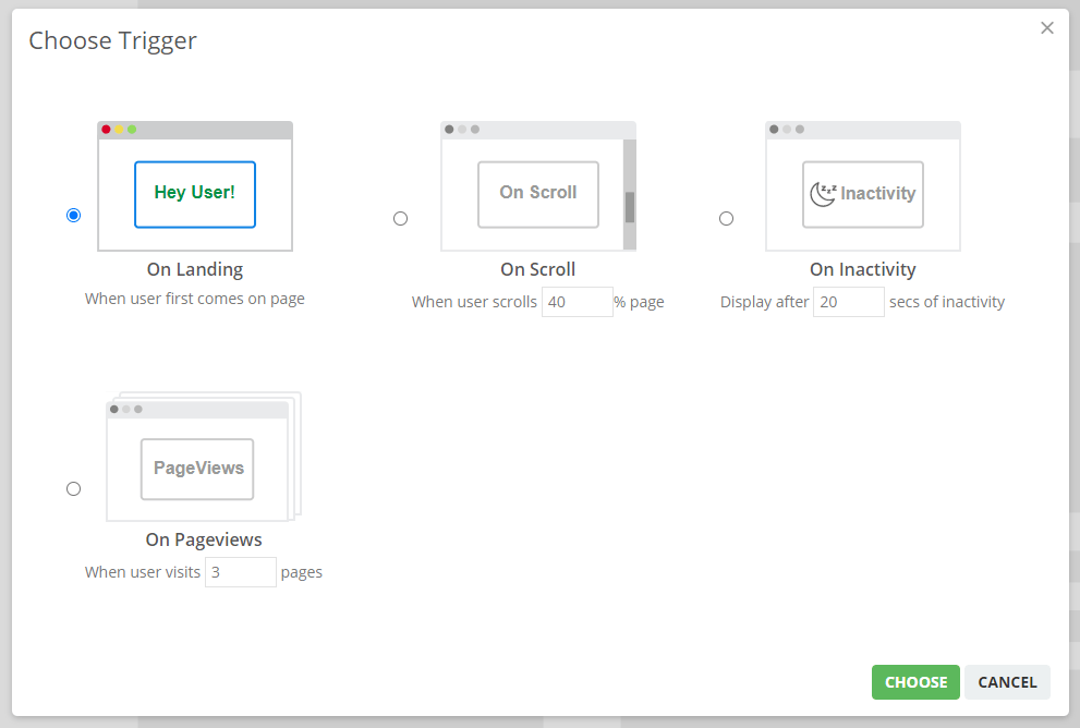 Opt-in Prompt Triggers