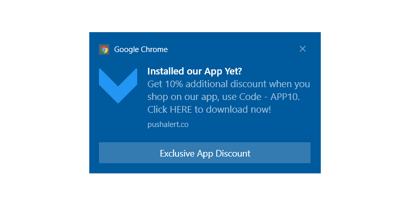Exclusive App Install Offer - Push Notification Template