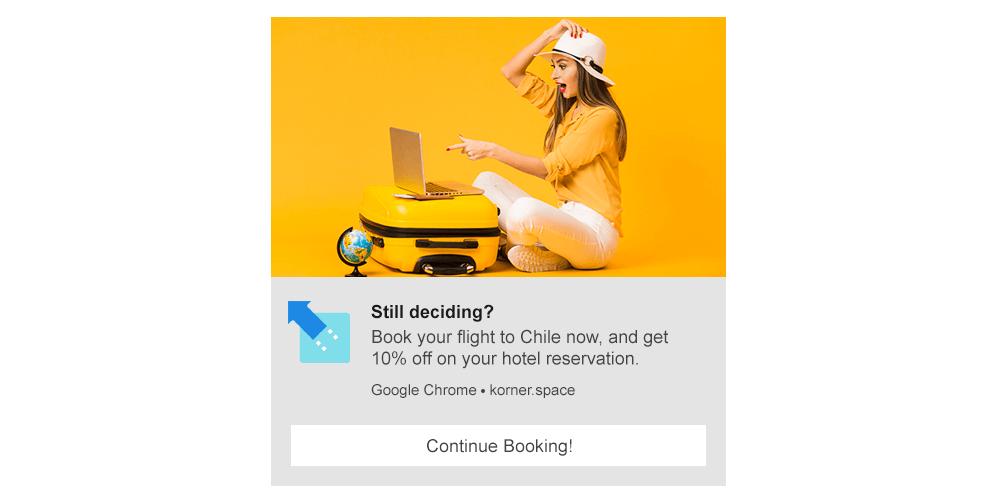 Booking Reminder - Web Push Notification Template