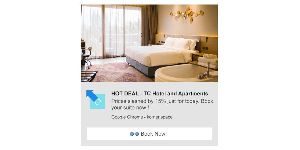 Hotel Deals - Web Push Notification Template