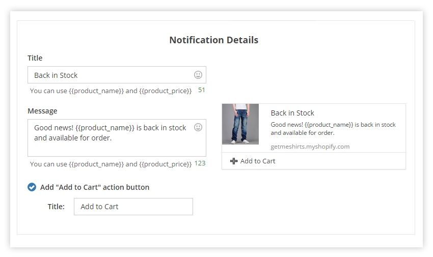 PushAlert Shopify Back-In-Stock Notification