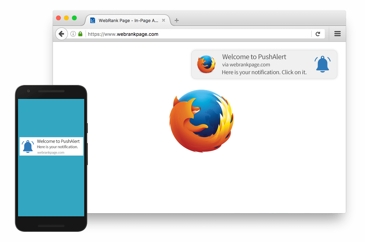 Push Notification on Firefox Browser